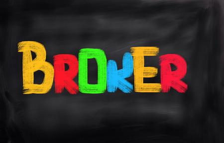 agente comercial: Broker Concepto