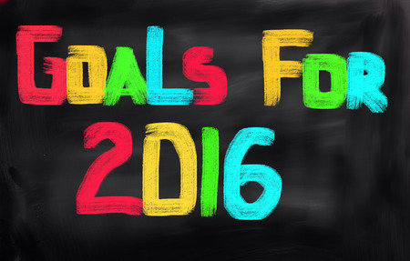 Goals For 2016 Concept Stock Photo