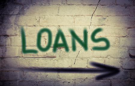 loans: Loans Concept Stock Photo