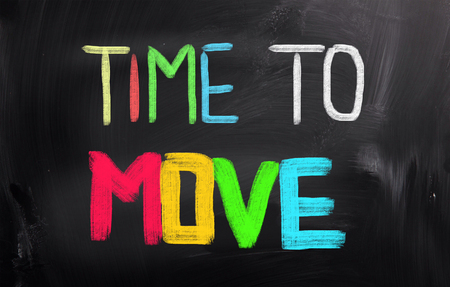 moving: Time To Move Concept Stock Photo