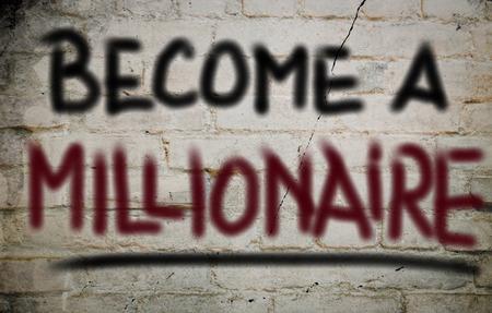 hombre millonario: Convertido en un concepto millonario