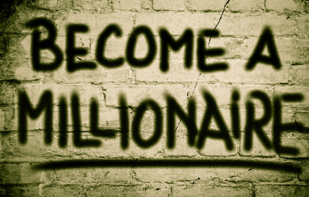 become: Become A Millionaire Concept Stock Photo