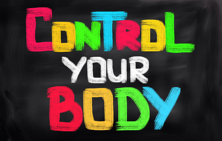fitness training: Control Your Weight Concept Stock Photo