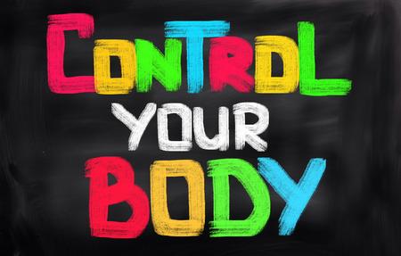 abdominal fitness: Controle su peso Concepto Foto de archivo