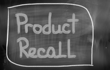 financially: Product Recall Concept