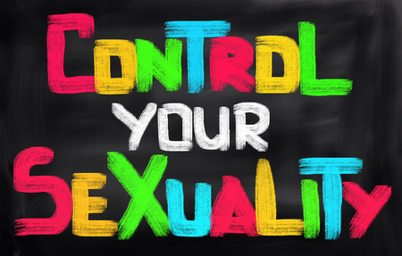 sex education: Control Your Sexuality Concept Stock Photo