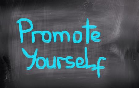 promover: Promote Yourself Concept Banco de Imagens
