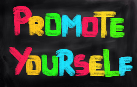 promote: Promote Yourself Concept Stock Photo