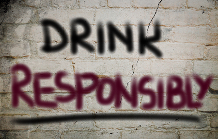 drink responsibly: Drink Responsibly Concept