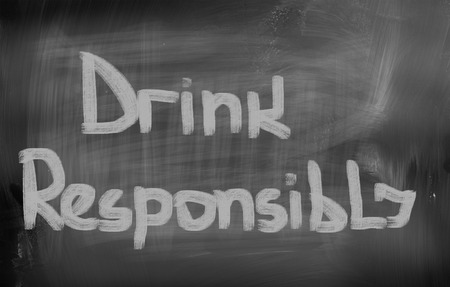 responsibly: Drink Responsibly Concept