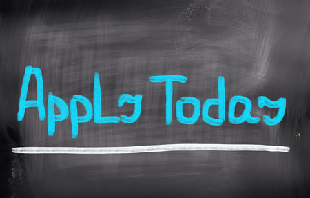 today: Apply Today Concept Stock Photo