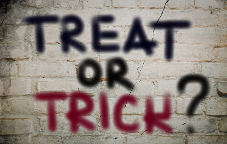 treat: Treat Or Trick Concept