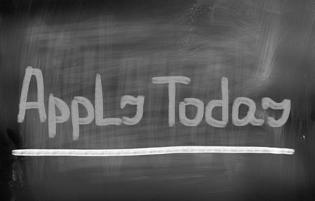 job deadline: Apply Today Concept Stock Photo