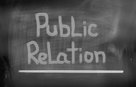 news values: Public Relations Concept Stock Photo