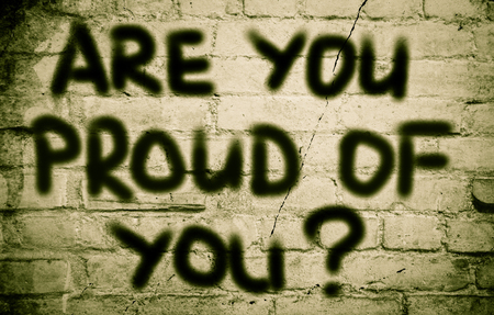 rewarded: Are You Proud Of You Concept