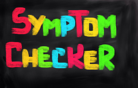 symptom: Symptom Checker Concept Stock Photo