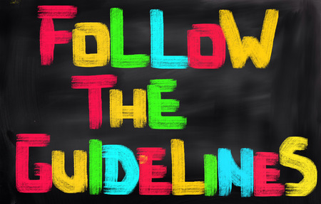 discretion: Follow The Guidelines Concept Stock Photo