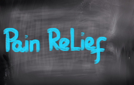 relieved: Pain Relief Concept Stock Photo