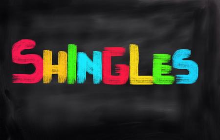lesions: Shingles Concept Stock Photo