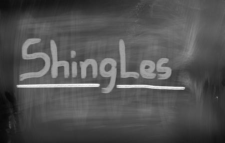 shingles: Concepto culebrilla Foto de archivo