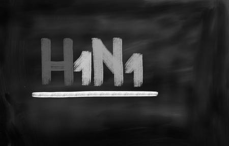 h1n1: H1N1 Virus Concept