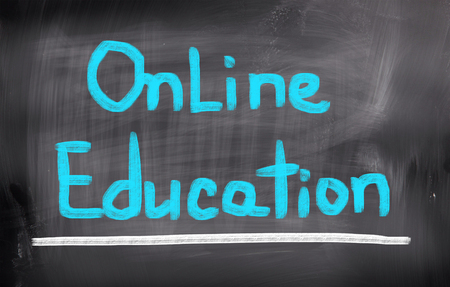 electronically: Online Education Concept