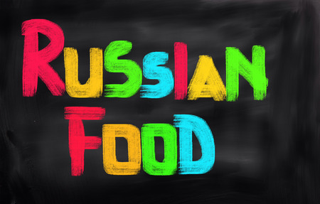 russian food: Russian Food Concept Stock Photo