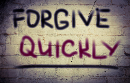 forgive: Forgive Quickly Concept Stock Photo