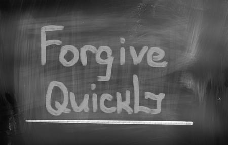perdonar: Perdona rápidamente Concept