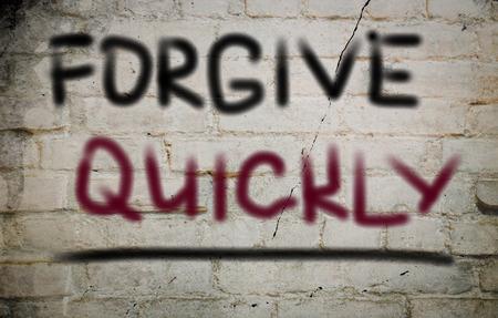 to forgive: Perdona r�pidamente Concept