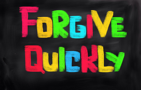 forgiving: Forgive Quickly Concept Stock Photo