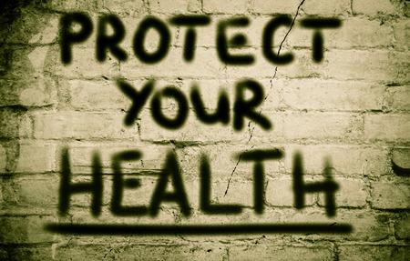 health symbols metaphors: Protect Your Health Concept