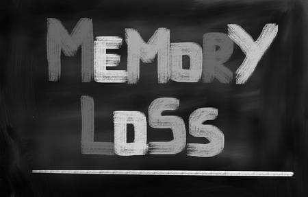mentally ill: Memory Loss Concept