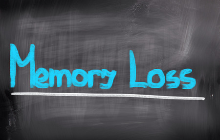 aging brain: Memory Loss Concept