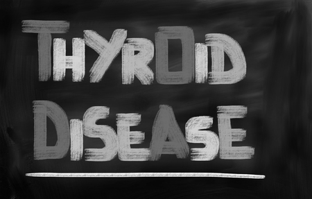 pharyngitis: Thyroid Disease Concept