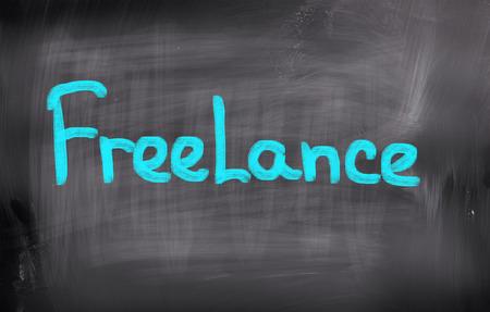 telecommute: Freelance Concept