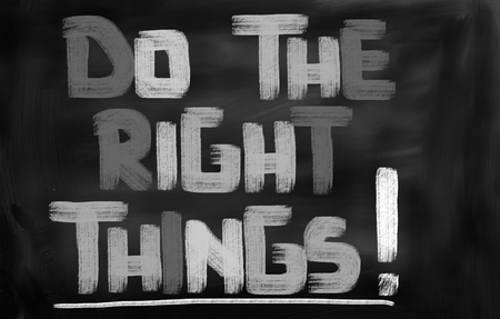 things to do: Do The Right Things Concept Stock Photo