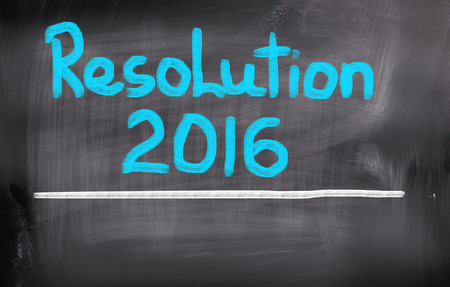 personal decisions: Resolution 2016 Concept Stock Photo