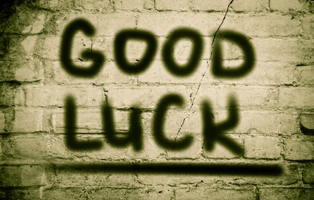 final examination: Good Luck Concept