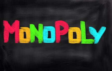 monopoly: Concepto monopolio Foto de archivo