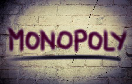 monopolio: Concepto monopolio Foto de archivo