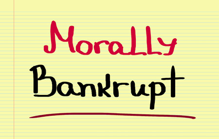 morally: Morally Bankrupt Concept
