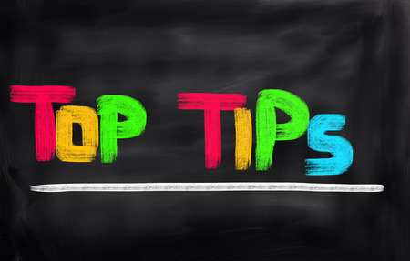 Top Tips Concept Banque d'images