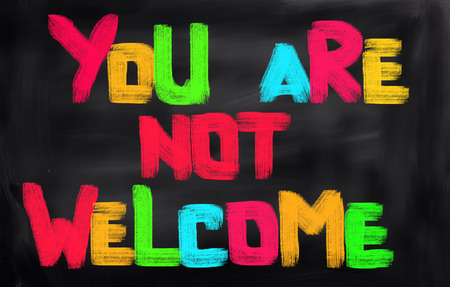 syrian war: You Are Not Welcome Concept
