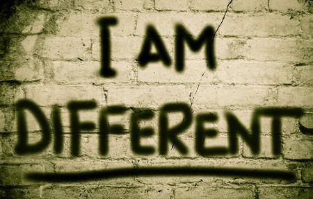 i am: I Am Different Concept