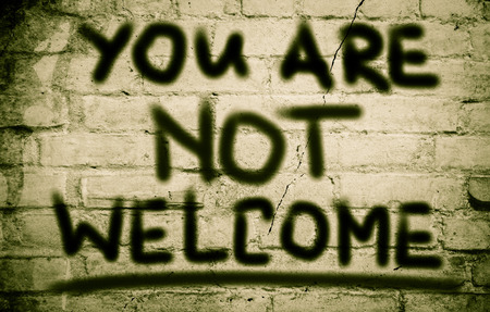 syrian civil war: You Are Not Welcome Concept