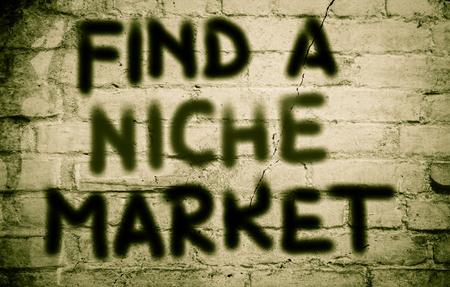 niche: Find A Niche Market Concept