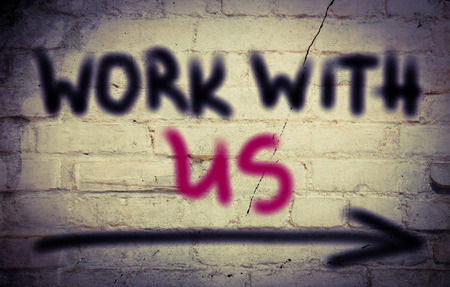new recruit: Work With Us Concept Stock Photo