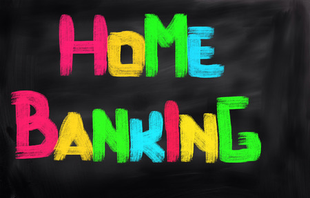 bank activities: Home Banking Concept Stock Photo