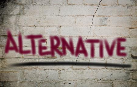 alternatieve Concept Stockfoto